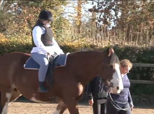 Alison Gonnelly enjoys a day Horse Riding